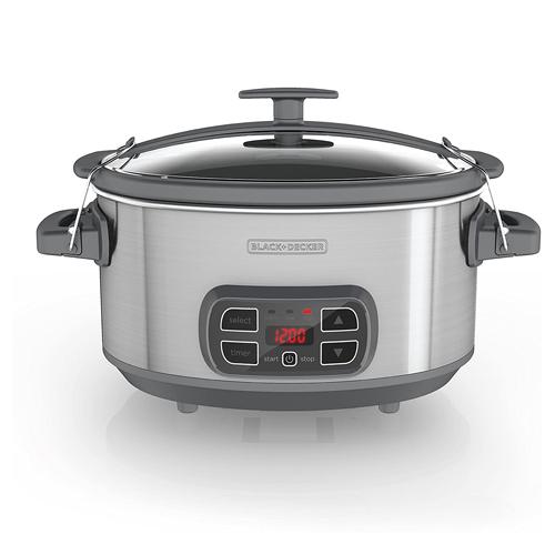 BLACK+DECKER SCD1007 7 Quart Programmable Slow Cooker with Digital Timer