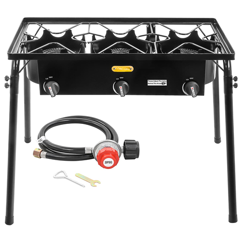 CONCORD Triple Burner Outdoor Stand Stove Cooker