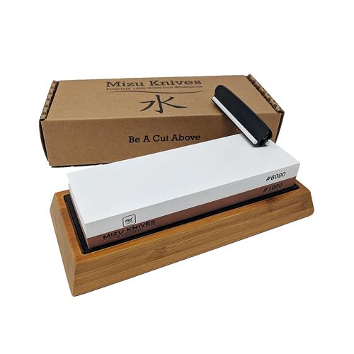 Mizu 1000 6000 Grit Premium Whetstone Knife Sharpening Stone