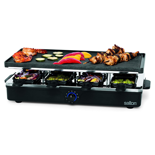 Salton Raclette Indoor Electric Party Grill & Raclette