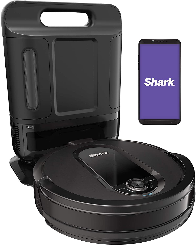 image of shark iq robot vacuum with xl self-empty base